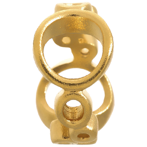 Bubbles Gold Plated Charm 51102