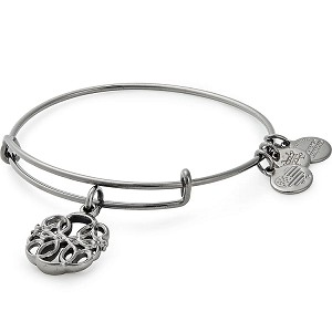 Path of Life  Charm Bangle Midnight Silver