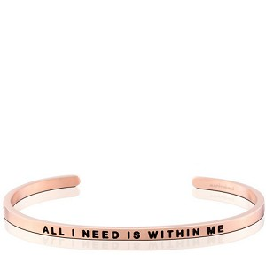 All I Need Is Within Me Rose Gold