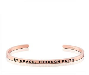 By Grace Through Faith Rose Gold