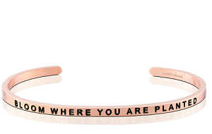 Bloom Where You Are Planted Rose Gold