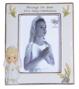 Blessings On Your First Holy Communion Girl Frame