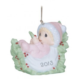 Babys First Christmas Dated 2013 Girl Ornament 131005