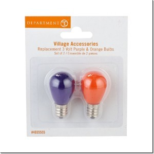 halloween replacement light bulb 3v purple orange 4035555