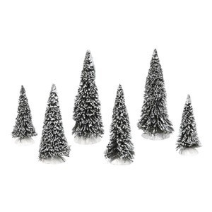 Snow Covered Pines Set of 6 4038837