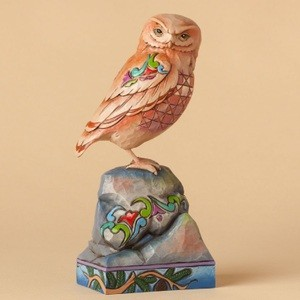 Wonderfully Wise Owl Perched On Rock 4039490