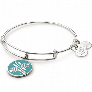 Arrows of Friendship Charm Bangle Shiny Silver