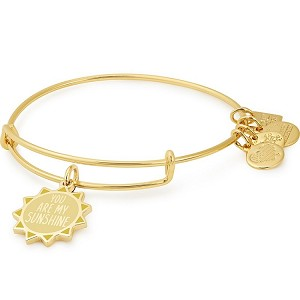 You Are My Sunshine Charm Bangle Shiny Gold