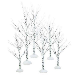 Winter Birch set of 6 52636