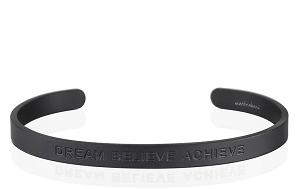 Mens Dream Believe Achieve Matte Black