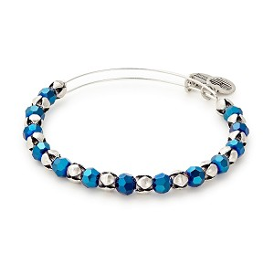 Artic Snowbell Beaded Bangle  Rafaelian Silver