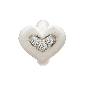 Endless Triple Love Silver Charm White 41300-1