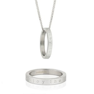 Mantra Ring Necklace Enjoy The Journey Size 8