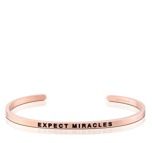 Expect Miracles Rose Gold