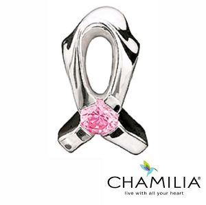 Breast Cancer Awareness Ribbon Charm Ja-1a