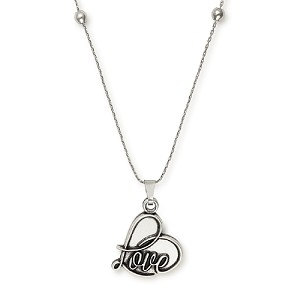 Love Expandable Necklace Silver