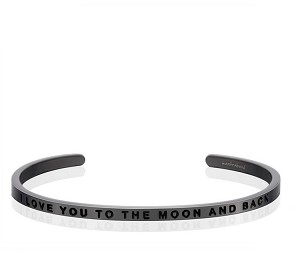 I Love You To The Moon And Back Moon Grey