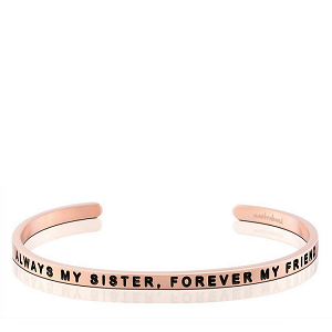 Always My Sister Forever My Friend Rose Gold