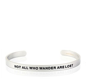 Mens Not All Who Wander Are Lost Silver