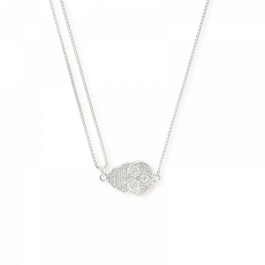 Calavera Pull Chain Necklace Sterling Silver