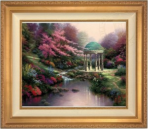 Thomas Kinkade Pools of Serenity 24 30 Canvas Framed