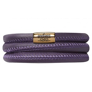 Bracelet Purple Triple 8.0 Gold