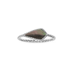 Sloane Ring in Tahiti Mother of Pearl Silver Size 8
