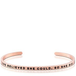 She Believed She Could So She Did Rose Gold