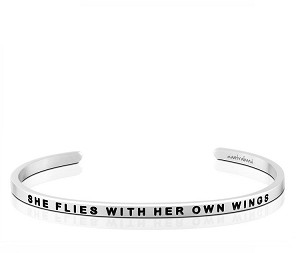 She Flies With Her Own Wings Silver