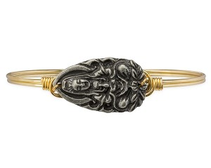 Laughing Buddha Bangle Brass 7.5