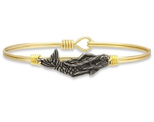 Mermaid Bangle Bracelet Brass 7.0