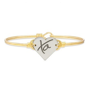 XO Bangle Bracelet Brass Tone