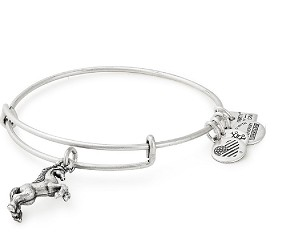Unicorn Charm Bangle Silver