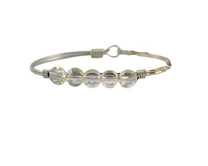 Crystal Lumi Bangle Silver 7.5